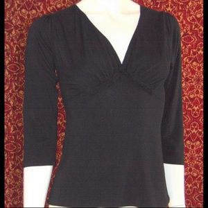 STUDIO M black stretch viscose 3/4 sleeve SP
